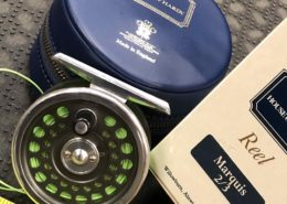 Hardy Fly Reel - Made in England - Marquis #2/3 c/w Original Box, Zippered Vinyl Case & Scientific Anglers GPX WF3F Fly Line - LIKE NEW! - $170