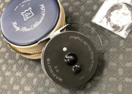 Hardy Fly Reel - Made in England - Marquis #7 c/w Zippered Vinyl Case, WF6S & Sink Leader - GOOD CONDITION! - $180