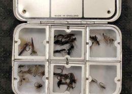 "Richard Wheatley - Silver Aluminum Fly Box - 6 compartments 3 1/2"" x 3 1/2"" x 3/4"" - GOOD CONDITION! - $25"