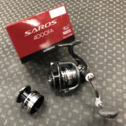Shimano Saros 4000FA Spinning Reel c/w Spare Spool - LIKE NEW! - $110