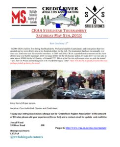 2018 CRAA Credit River Anglers Association Steelhead Tournament