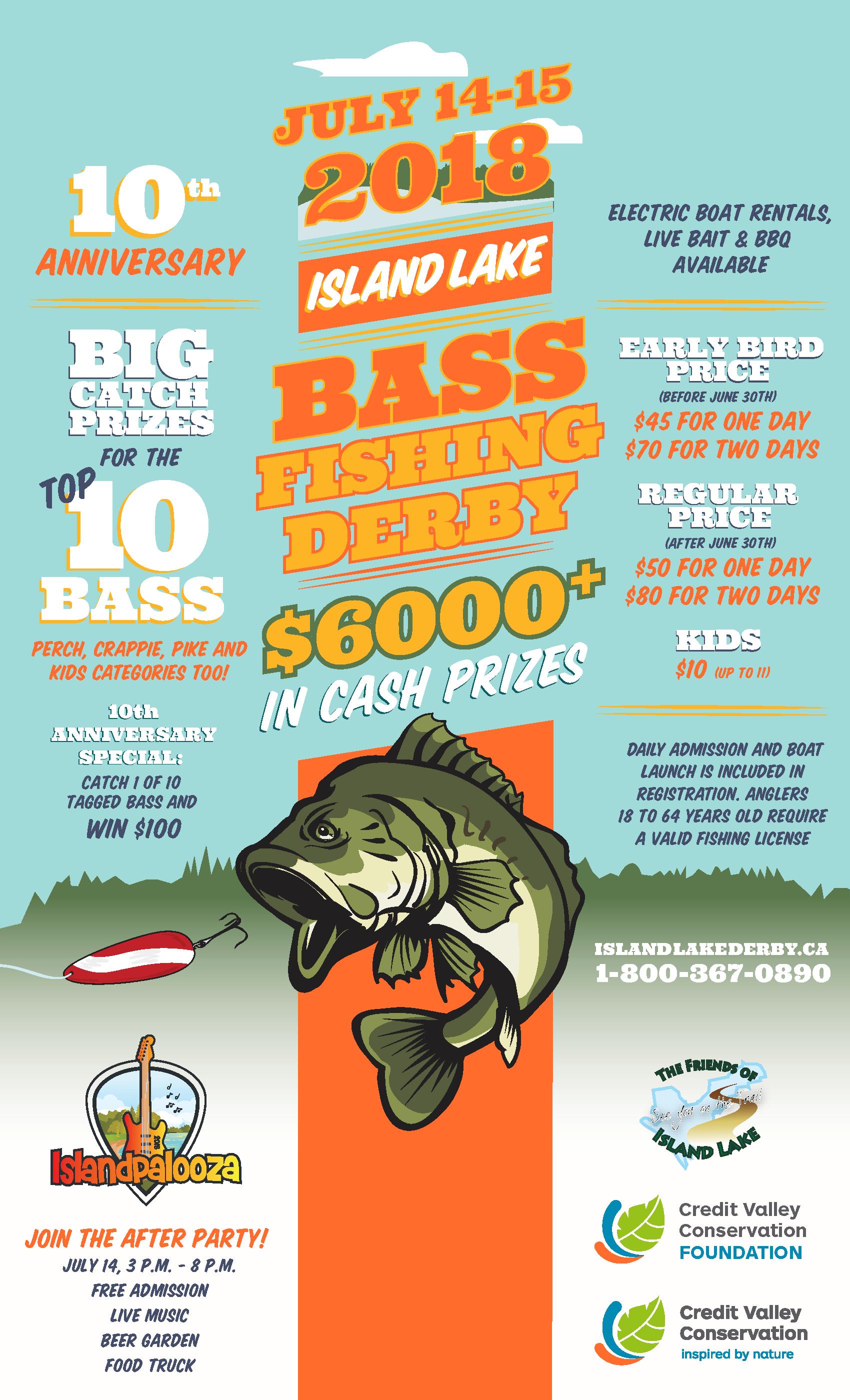2018 Island Lake Bass Fishing Derby