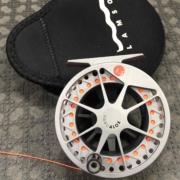 Lamson Velocity Hard Alox Fly Reel 1.5 c/w Backing - GREAT SHAPE! - $100