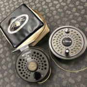 Orvis Battenkill 7/8 Fly Reel, Spare Spool & Zippered Pouch c/w Two Fly Lines - GREAT SHAPE! - $175