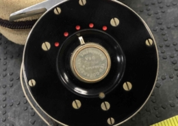 Ted Godfrey Classic 3wt Custom Hand Machined Fly Reel c/w Fly Line & Pouch - GREAT SHAPE! - $550