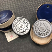 Hardy Fly Reel - Made in England - Marquis #10 c/w Spare Spool & Two Vinyl Zippered Cases - GREAT SHAPE! - $245
