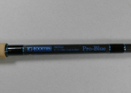 G. Loomis Pro Blue 8' one piece spinning rod for 1 to 2 oz. lures. PBR963S 11508-01  $160.00