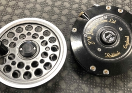J.W. Young & Sons Ltd. Fly Reel - Redditch England - c/w Spare Spool - 1535 Series - GREAT SHAPE! - $115