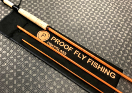 Custom Built - Proof Fly Fishing Fiberglass Kit Rod - 7 1/2' - 3Pc - 4/5Wt Fly Rod - LIKE NEW! - $95