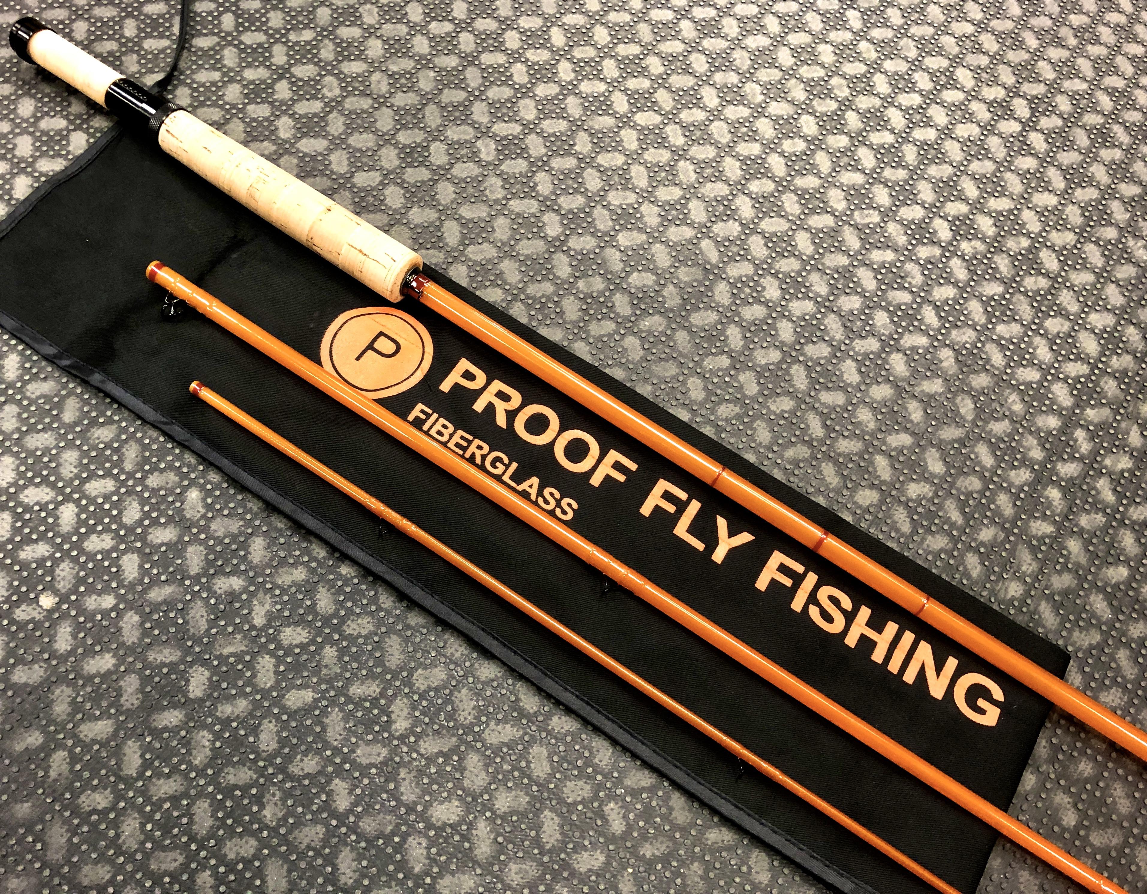 Custom Built - Proof Fly Fishing Fiberglass Kit Rod - 7 1/2' - 3Pc - 4/5Wt Fly Rod - LIKE NEW! - $95