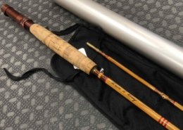 """Bamboo Cane Rod Fly Rod - Built by Owner From Genuine Tonkin Cane in 1975 - 2Pc - 9' - 5Wt - """"Dry Fly Action"""" - C/W Sock & Aluminum Tube - BEAUTIFUL CONDITION! - $280"""