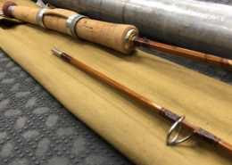 "Collectors Edition - Pezon and Michel - 2Pc - 6' - Bamboo Spinning Rod - From 1952 - Made in France - ""Sporting Model BB2"" - Removed from Sock twice - FANTASTIC CONDITION! - $475"