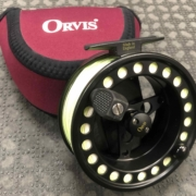 Orvis Battenkill - Made in England Fly Reel - Black - C/W A Scientific Anglers WF8F Fly Line - GREAT SHAPE! - $150