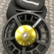 Sage 2280 Fly Reel - Black / Lime - GREAT SHAPE! - $100