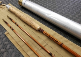 """Sharpe Aberdeen Bamboo Fly Rod - """"The Featherweight"""" - 2Pc - 7 1/2' - 5WT- GREAT SHAPE!"""